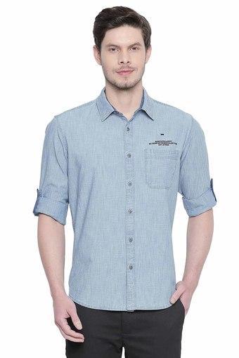BASICS -  BlueCasual Shirts - Main