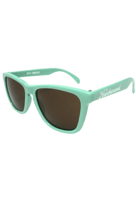 KNOCKAROUND Classic Premium Bio-Based Unisex Sunglasses Seafoam Green/Amber-PRBB1002 (Use Code FB20 To Get 20% Off On Purchase Of Rs.1800)