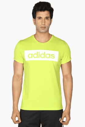 ADIDASMens Round Neck Short Sleeves Printed T-Shirt - 200681225