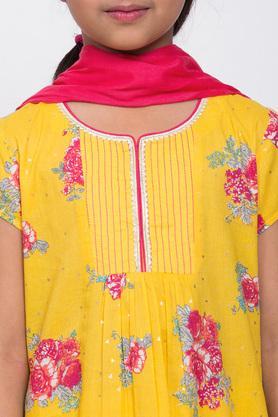 BIBA GIRLS - YellowSalwar Kurta Set - 4