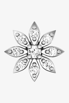 VELVETCASEWomens 18 Karat White Gold Nose Ring (Free Diamond Pendant) - 201064998