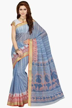 DEMARCA Women Cotton Blend Designer Saree