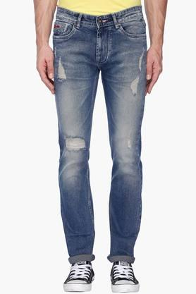 NUMERO UNO Mens 5 Pocket Distressed Jeans (Martin Fit)