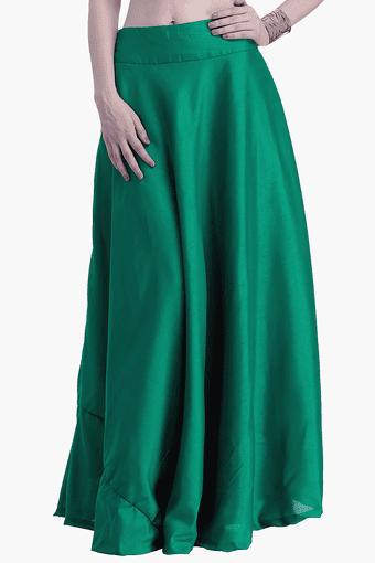 Womens Flared Maxi Skirt