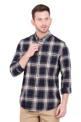 Mens Button-down Collar Checked Shirt