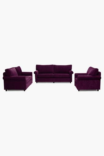 Dark Berry Fabric Sofa (3-2-1 Sofa Set)