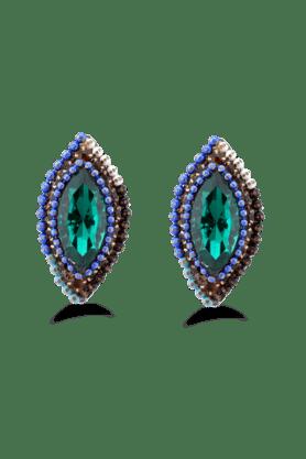 JAZZKundan Jewellery Designer Partywear Multicolour Earring