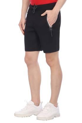 Mens 3 Pocket Solid Sports Shorts