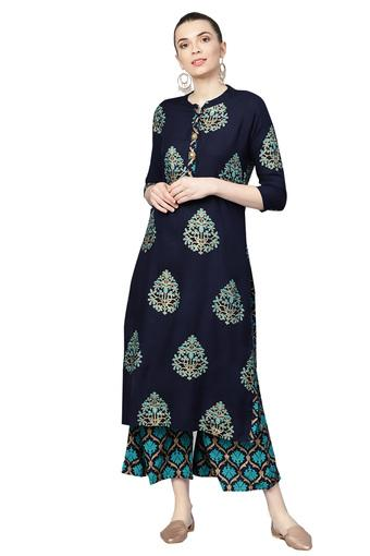 ISHIN -  Blue Salwar & Churidar Suits - Main