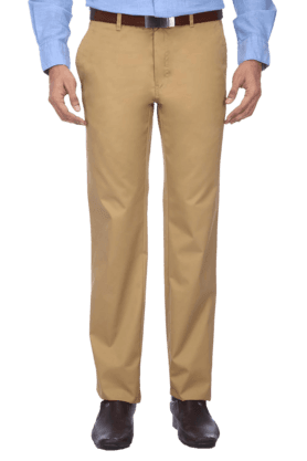 LOUIS PHILIPPEMens Flat Front Regular Fit Solid Chinos