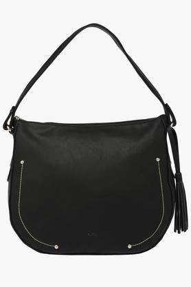 LIFE Womens Synthetic Leather Zipper Closure Hobo Handbag