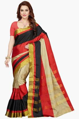 Women Bhagalpuri Art Silk Zari Border Saree - 202528724