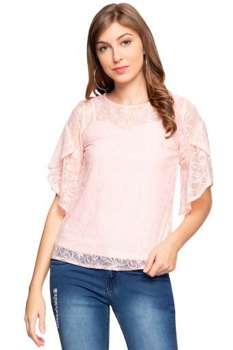 ZINK LONDON -  Pink Tops & Tees - Main
