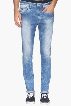 U.S. POLO ASSN. DENIMMens 5 Pocket Stone Wash Jeans (Regallo Fit)