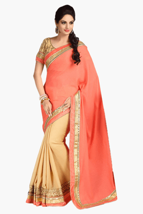 DEMARCA Womens Embroidered Saree - 201151764