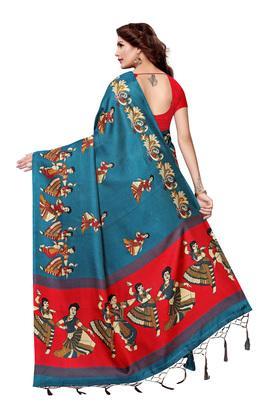 Womens Warli Print Saree with Blouse Piece