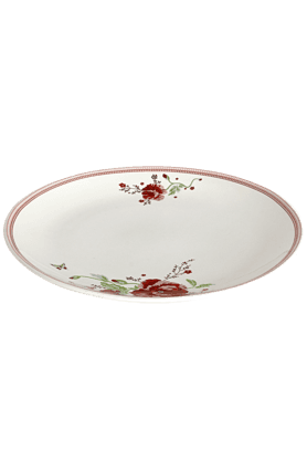 DEVON NORTH Red Poppy Dinner Plate