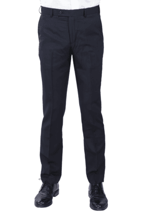 PARK AVENUE Mens Flat Front Slim Fit Stripe Formal Trouser