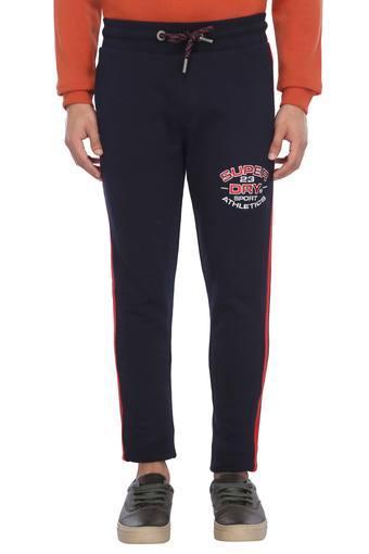 Mens 2 Pocket Graphic Print Sports Track Pants