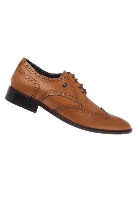 Mens Leather Lace Up Semi Formal Shoe