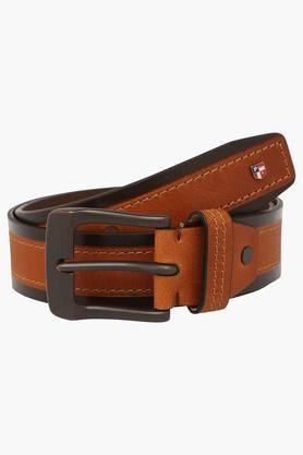 U.S. POLO ASSN. Mens Leather Buckle Closure Casual Belt  ... - 202132323