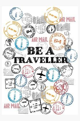 CRUDE AREAMulti Colour Be A Traveller Printed Paper Poster
