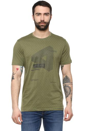 LOUIS PHILIPPE JEANS -  Dark GreenT-shirts - Main