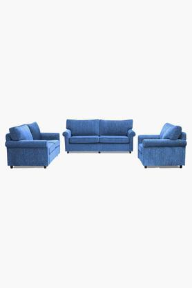 Persian Blue Fabric Sofa (3-2-1 Sofa Set)