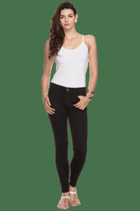 Womens Medium Rise Skinny Fit Denims