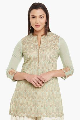 Women Poly Cotton Straight Kurti