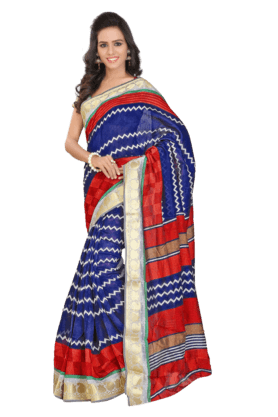 DEMARCA Women Art Silk Saree (Buy Any Demarca Product & Get A Pair Of Matching Earrings Free) - 200875640