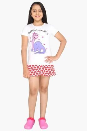 Girls Dino Cute-O-Saurus T-shirt