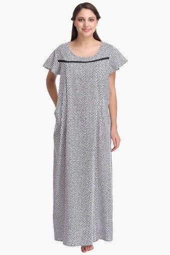 e2fbeb54a7962 Buy CLOVIA Maternity Round Neck Printed Night Dress | Shoppers Stop