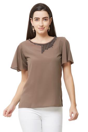 SOIE -  BrownT-Shirts - Main