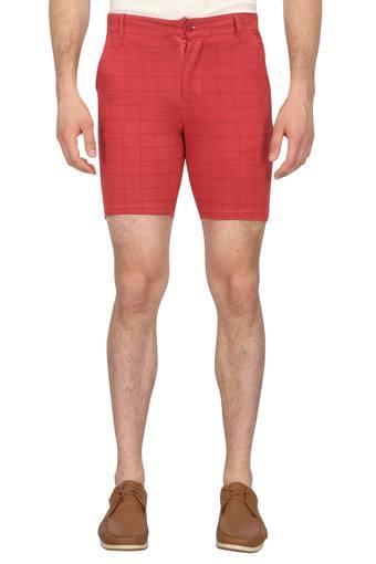 Mens 3 Pocket Check Shorts