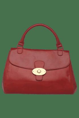 BAGGITWomens Leather Metallic Lock Closure Hobo Handbag