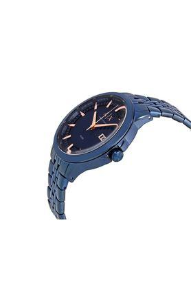 Mens Dress Navy Blue Dial Metallic Analogue Watch - AX2268l