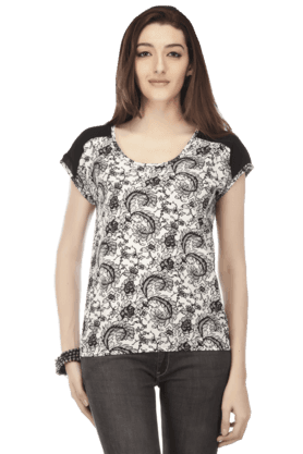 Women Cotton Printed Top