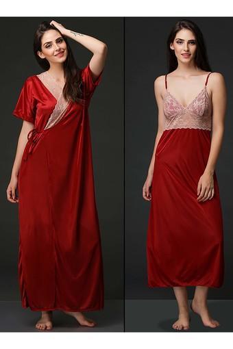 Womens Lace Night Dress and Robe Set