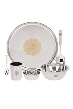 Medallion Metallic Dinner Set of 28