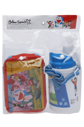 Unisex Doraemon Lunch Box and Water Bottle Combo Set