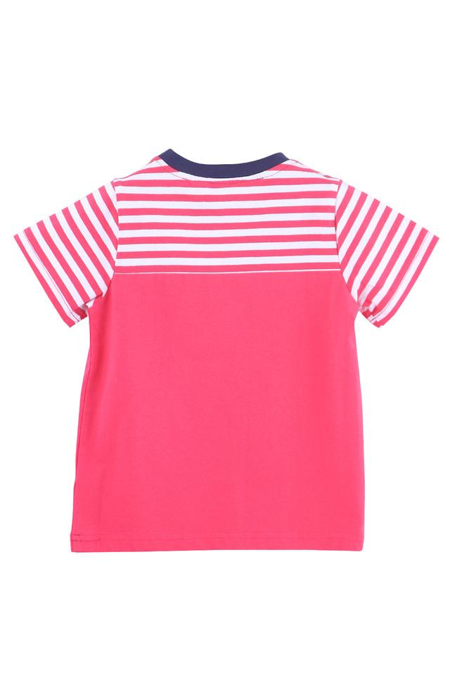 Boys Round Neck Patch Work Tee