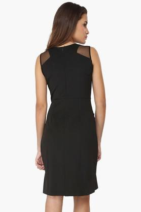 Womens Embellished Casual Shift Dress