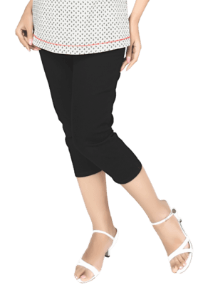 NINE MATERNITY Women Blended Capri