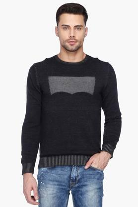 LEVIS Mens Regular Fit Printed Round Neck Sweater