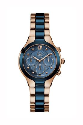 Womens Blue Dial Stainless Steel and Ceramic Multi-Function Watch - Y30003L7
