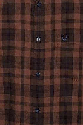 ALLEN SOLLY - Chocolate Casual Shirts - 4