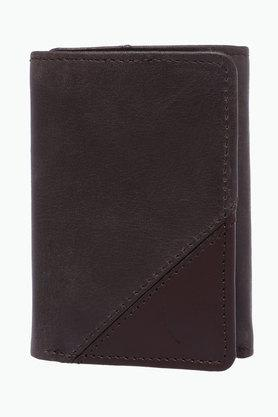 Mens Leather Double Fold Wallet