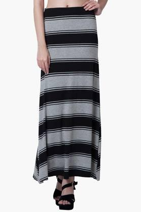 FABALLEY Womens Printed Maxi Skirt