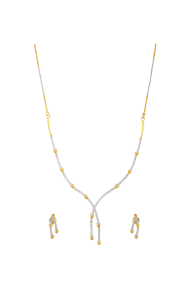 TUANContemporary Diamond Jewel Set For Women (INK-784) (Use Code FB20 To Get 20% Off On Purchase Of Rs.1800)
